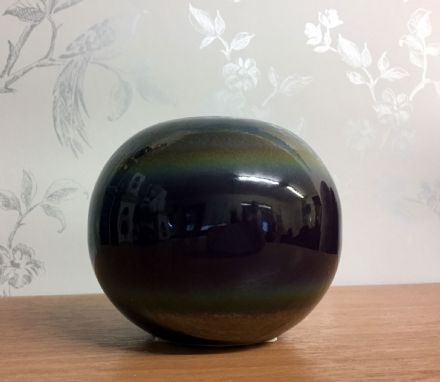 Ceramic Reactive Metallic Effect Round Ball ~ Tea Light Holder
